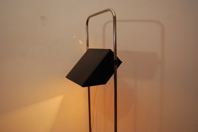 Floor lamp with rectangular shade