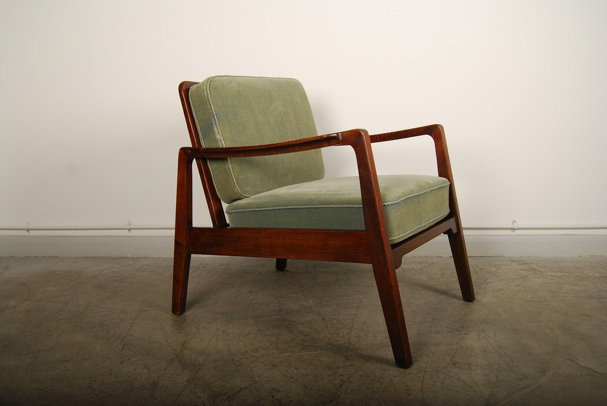 Dark oak lounge chair