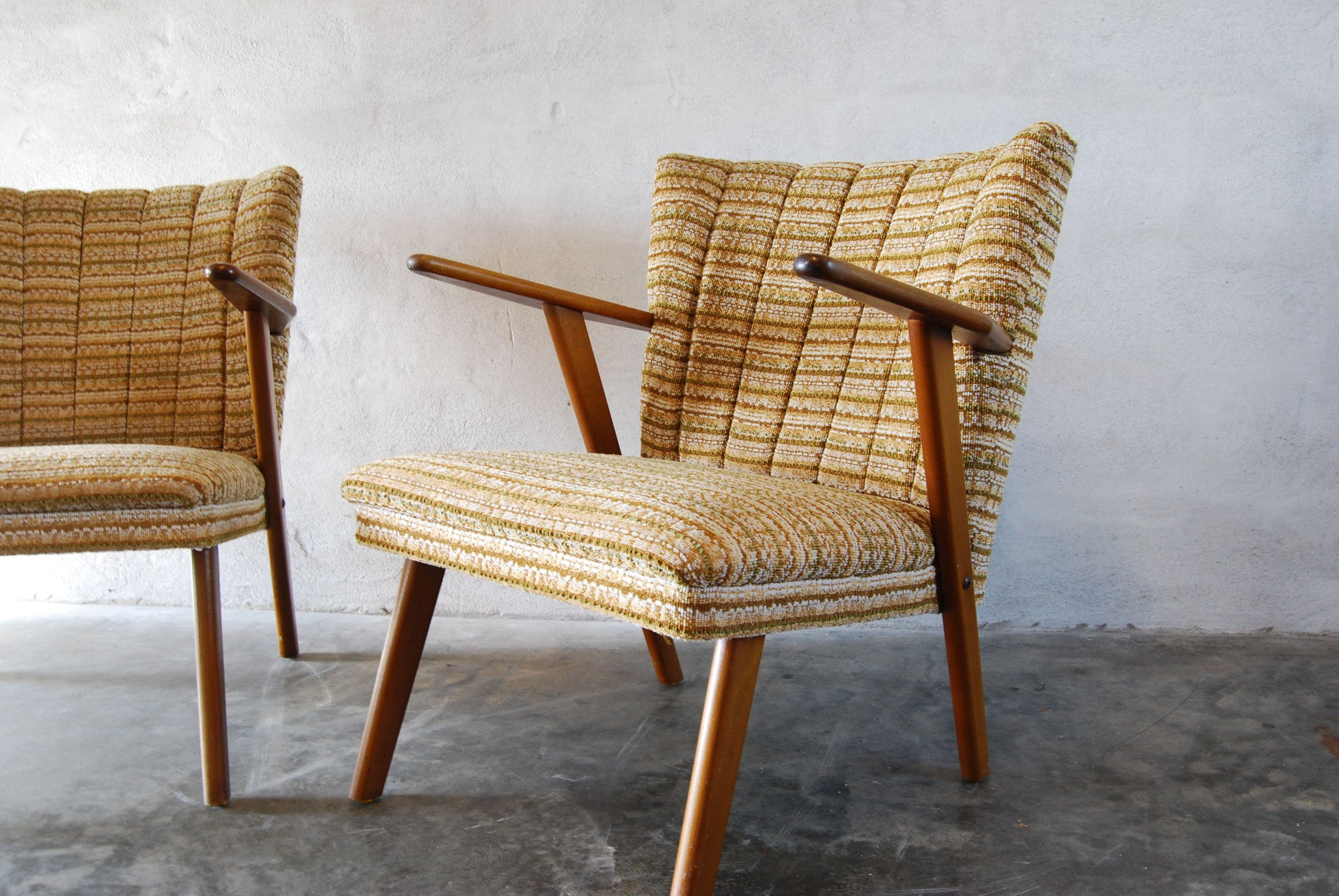 Chase & Sorensen Pair of occasional chairs in beech