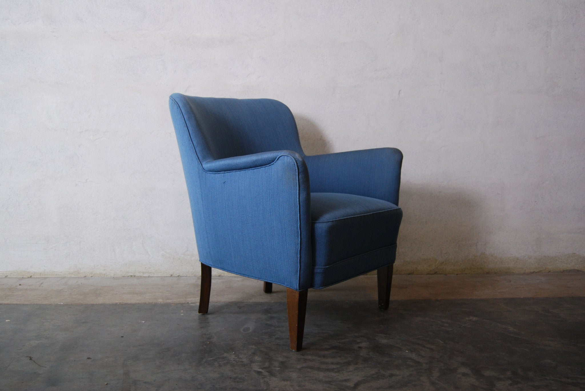 Lowback lounge chair in style of Malmsten