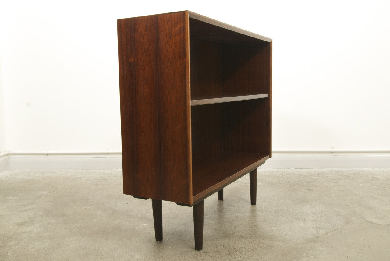 Rosewood and mahogany bookshelf