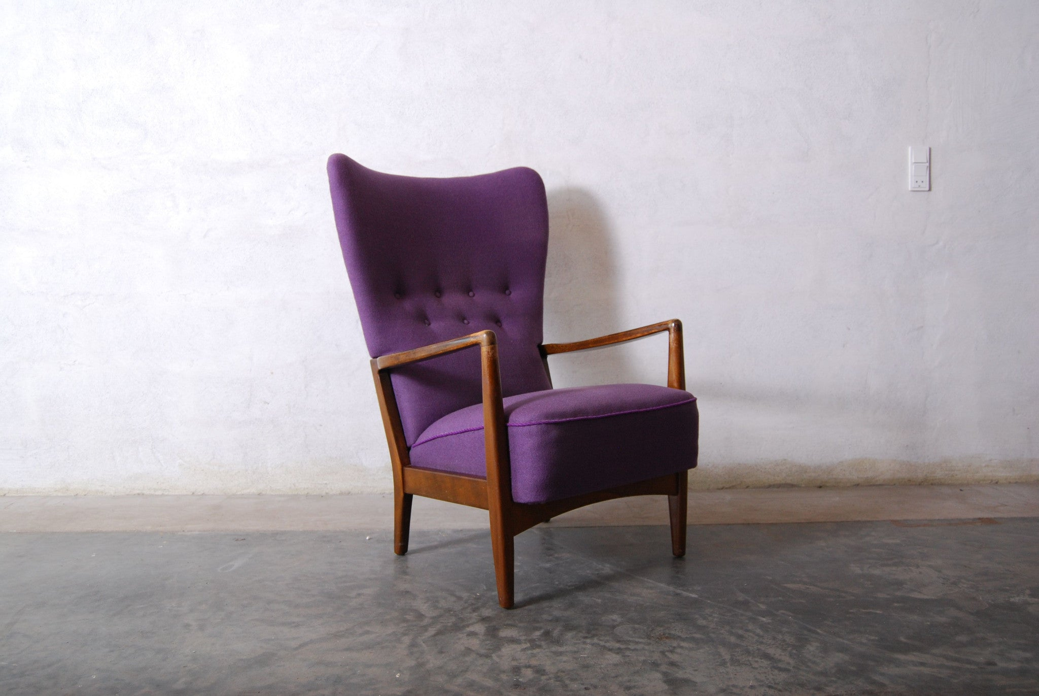 Chase & Sorensen Wingback lounge chair by Brge Christoffersen