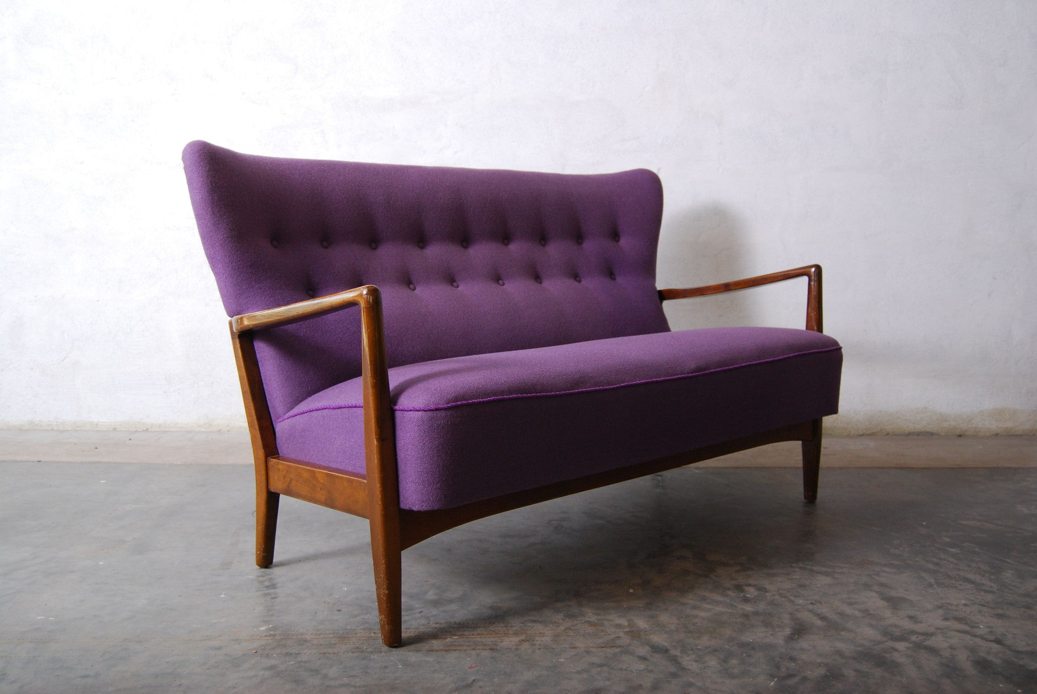 Wingback three seater