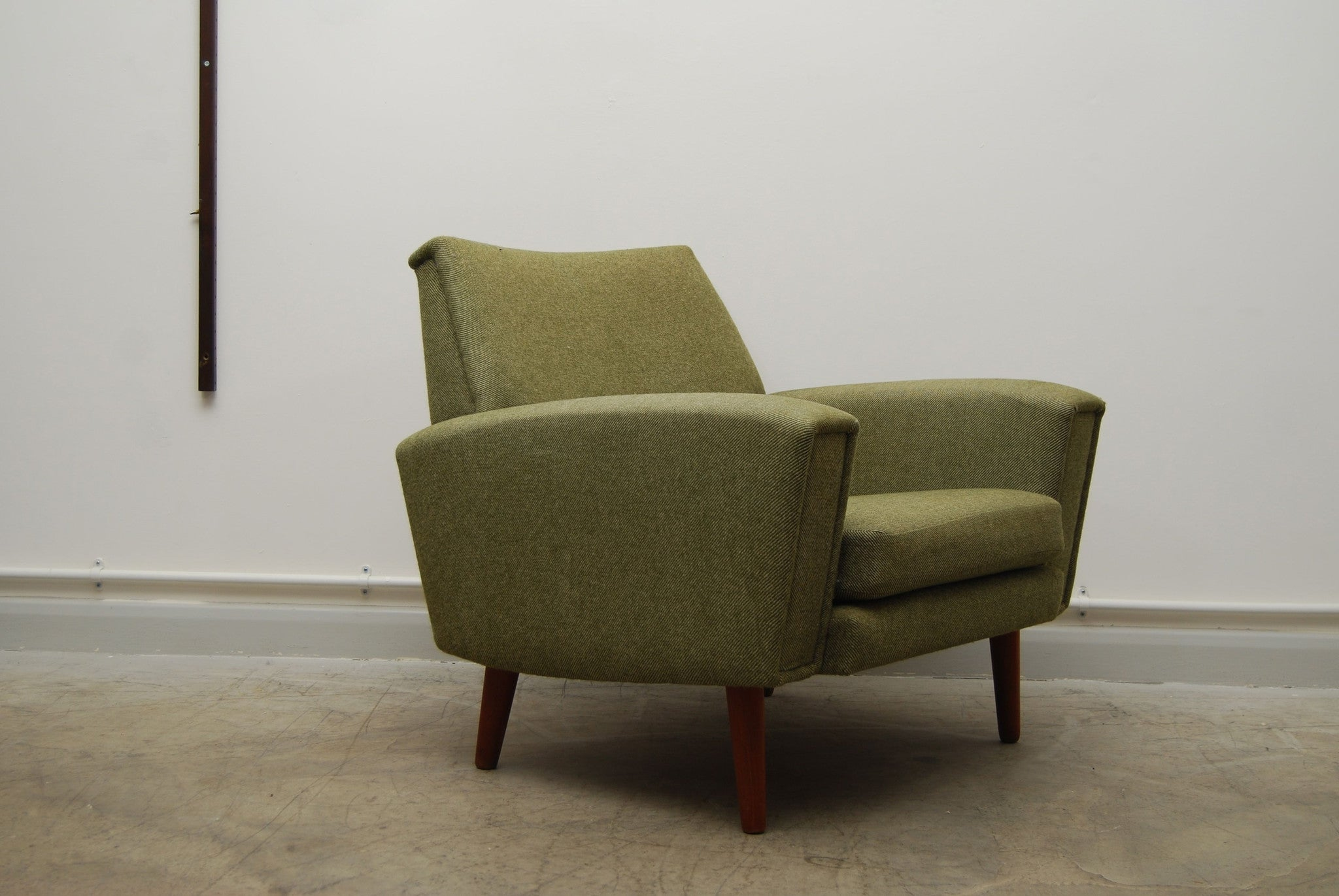 Chase & Sorensen Lowback lounge chair in tweed