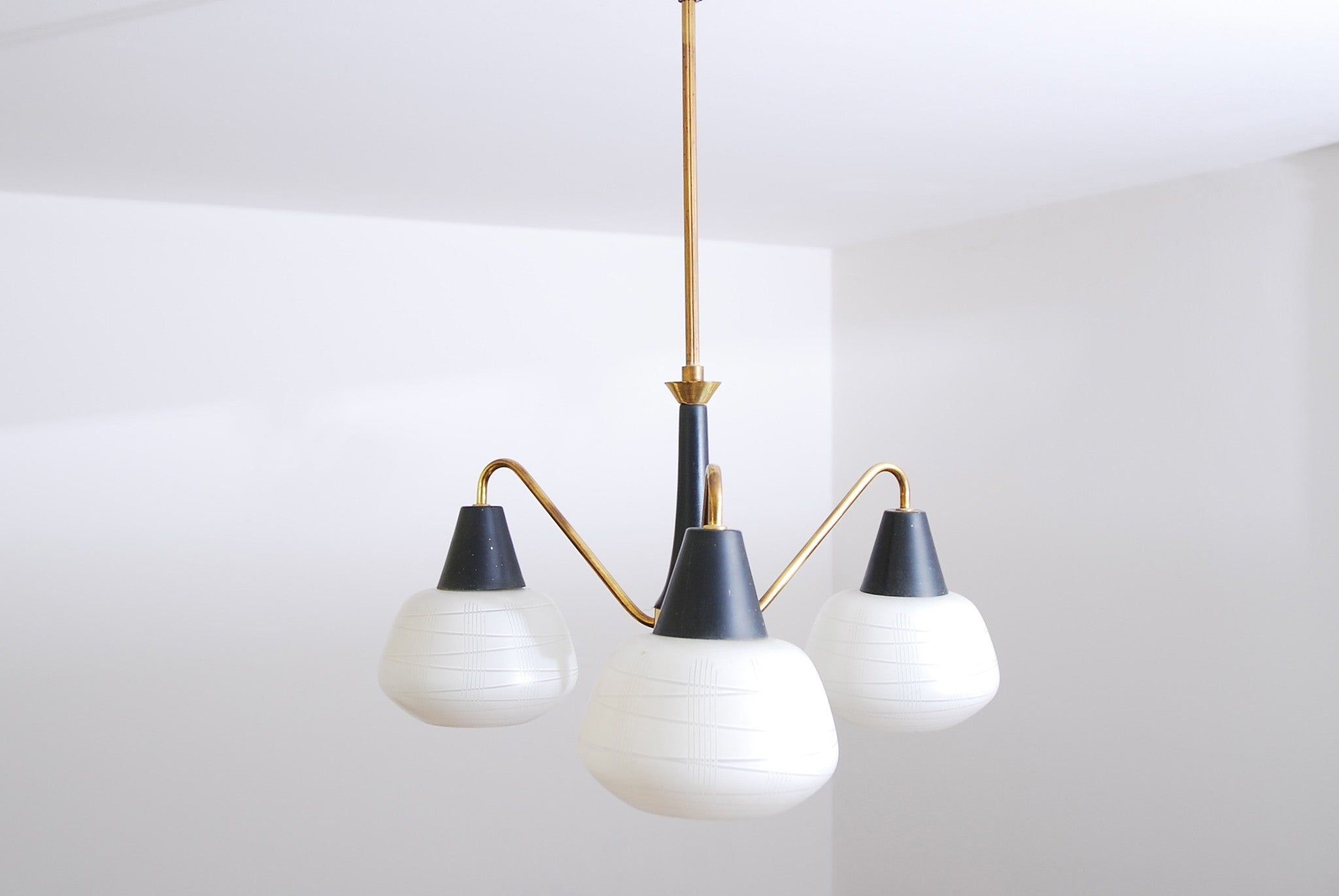 Three armed ceiling light