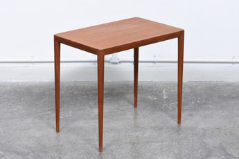 Teak side table by Haslev