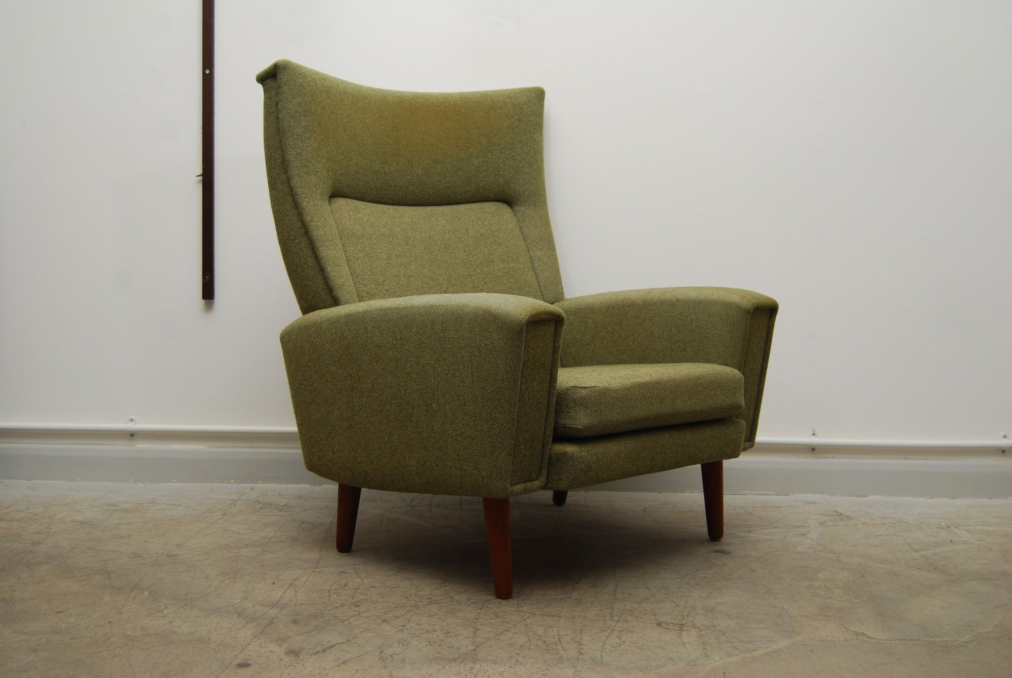 Chase & Sorensen Highback lounge chair in tweed