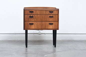 Low chest of rosewood drawers