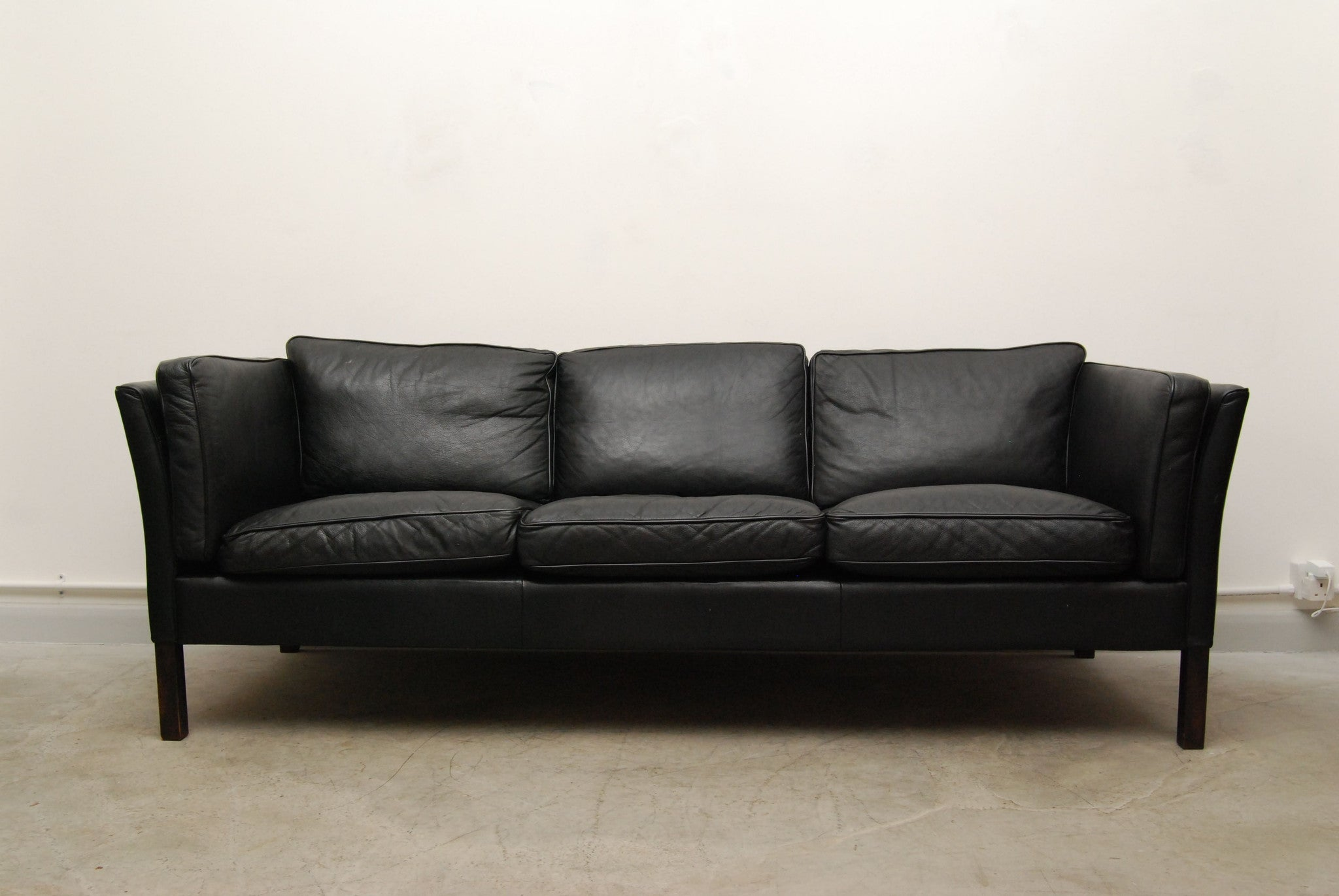 Three seat sofa by Stouby (black)