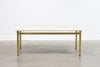 Vintage marble coffee table on brass base