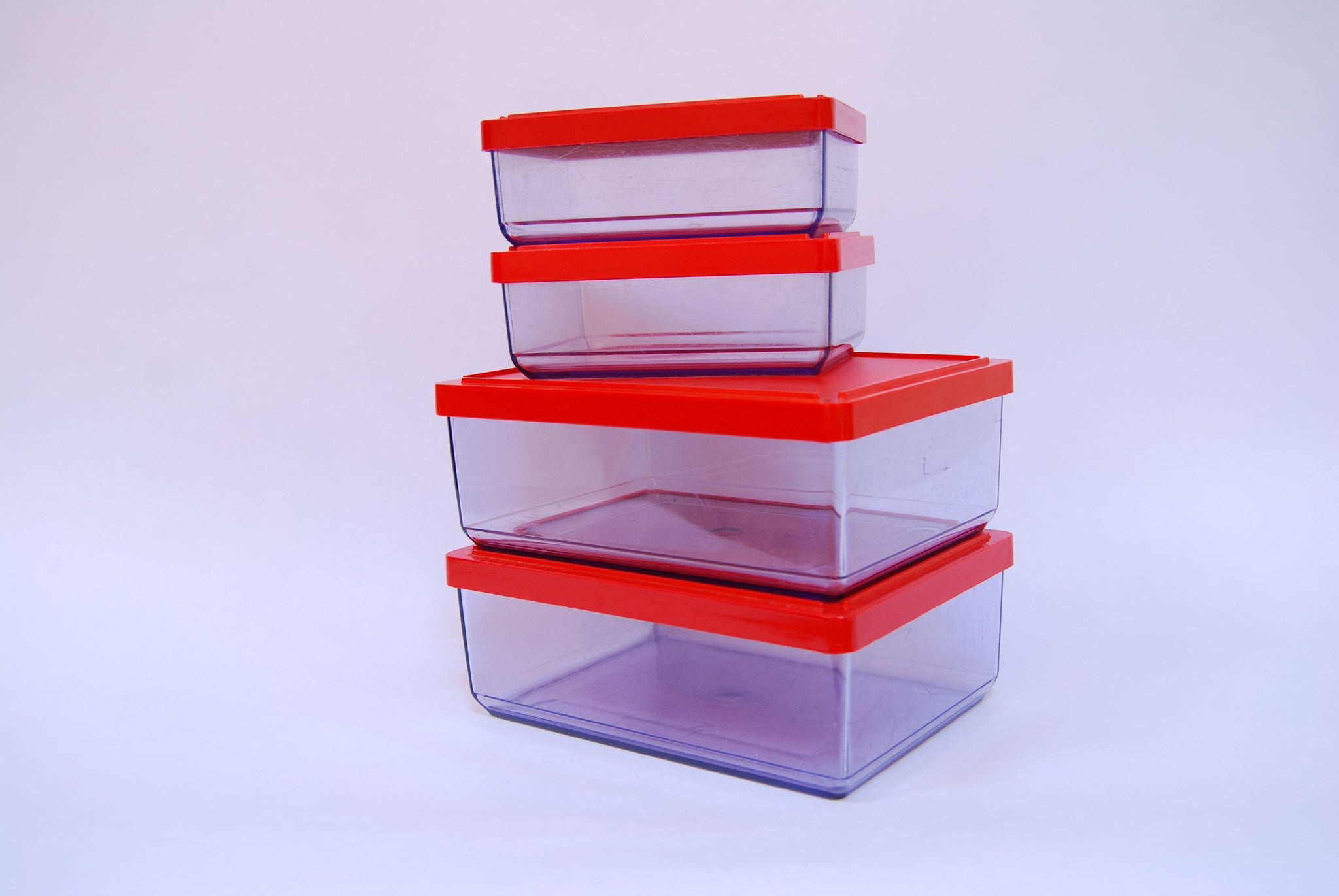 Selection of vintage storage containers