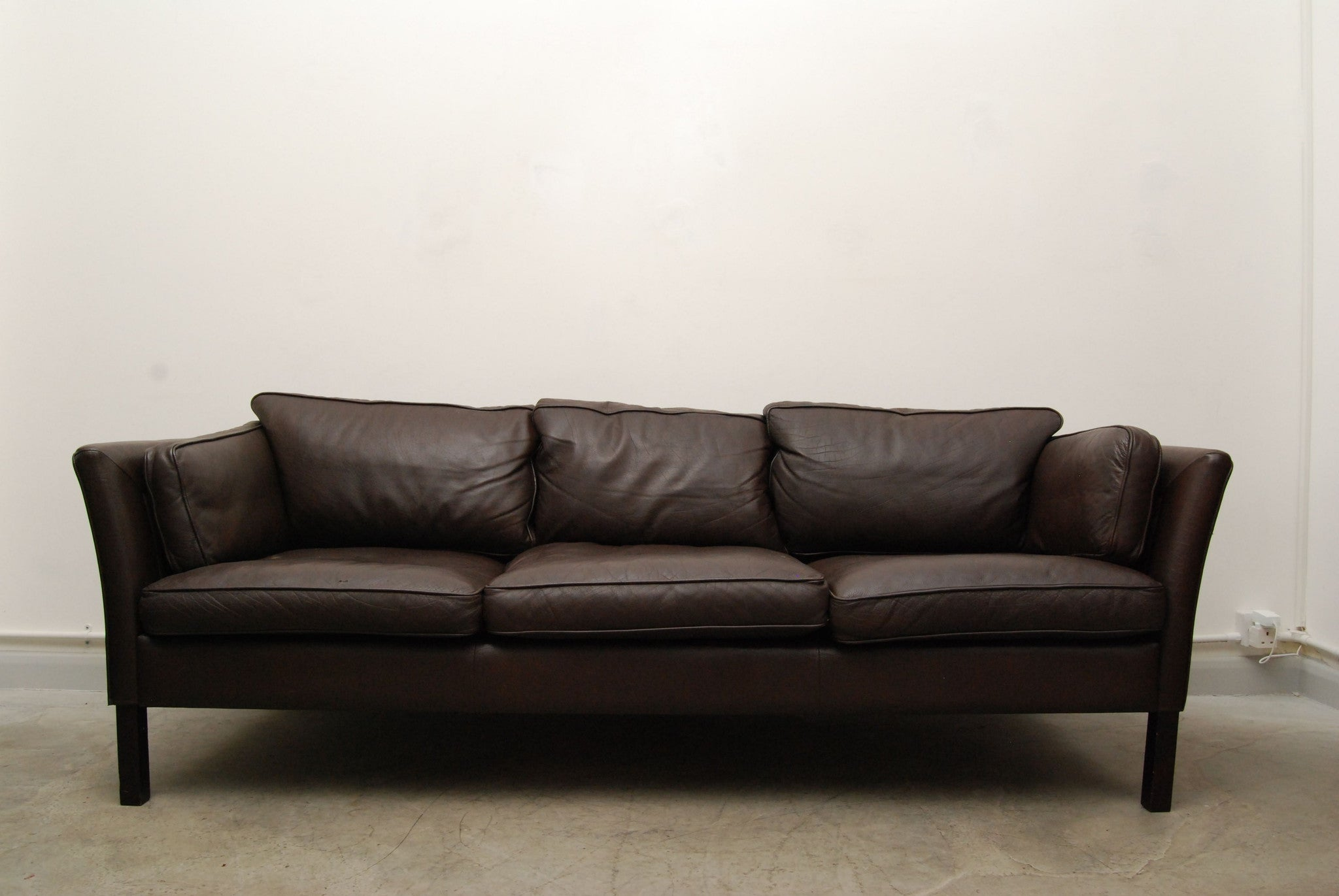 Three seat sofa by Stouby (dark brown)