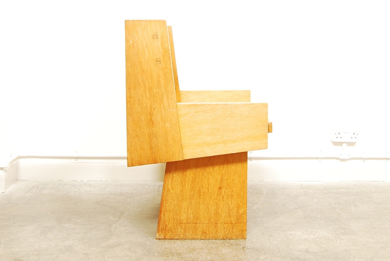 Generic Brand Angular oak chair