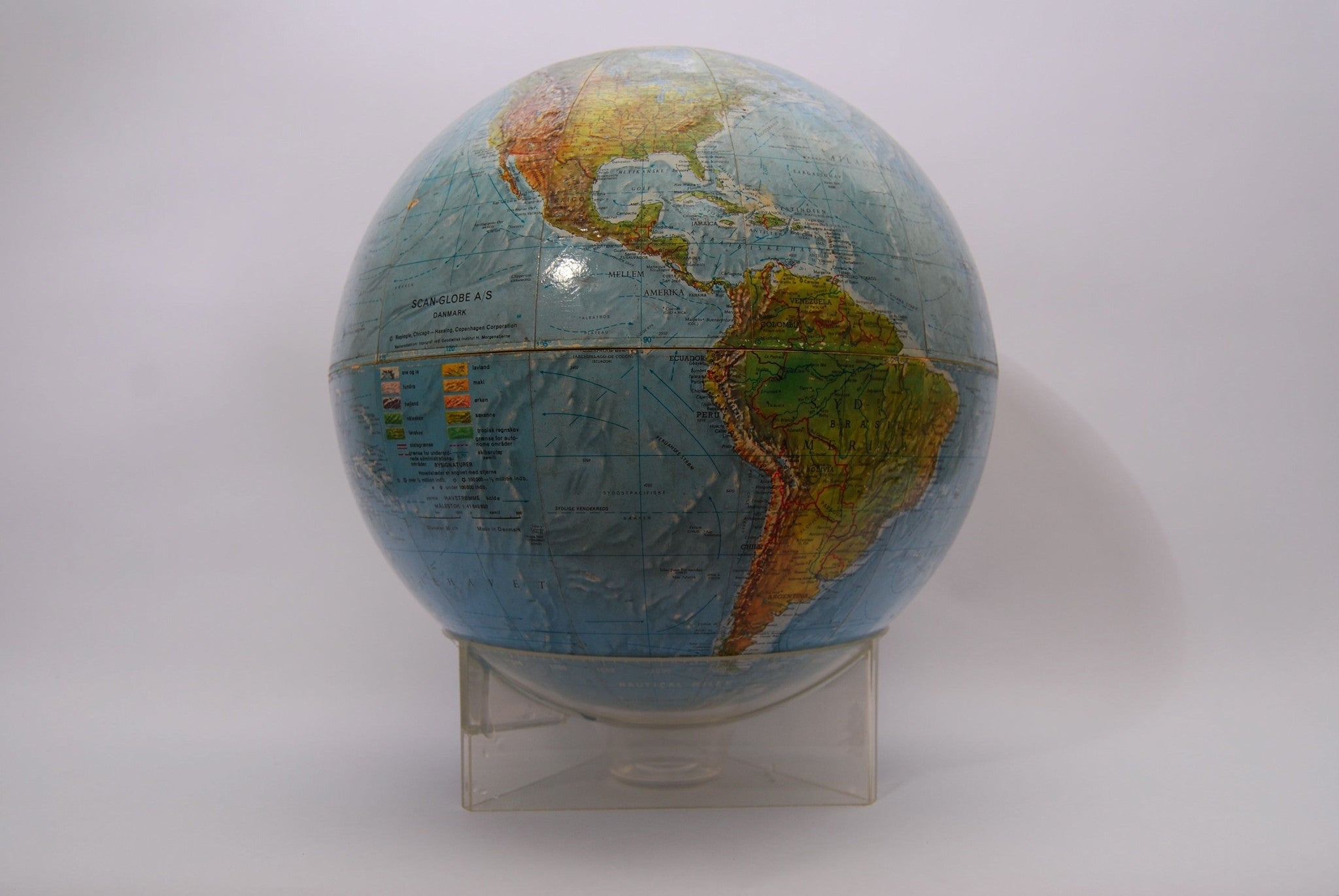 Globe on acrylic base