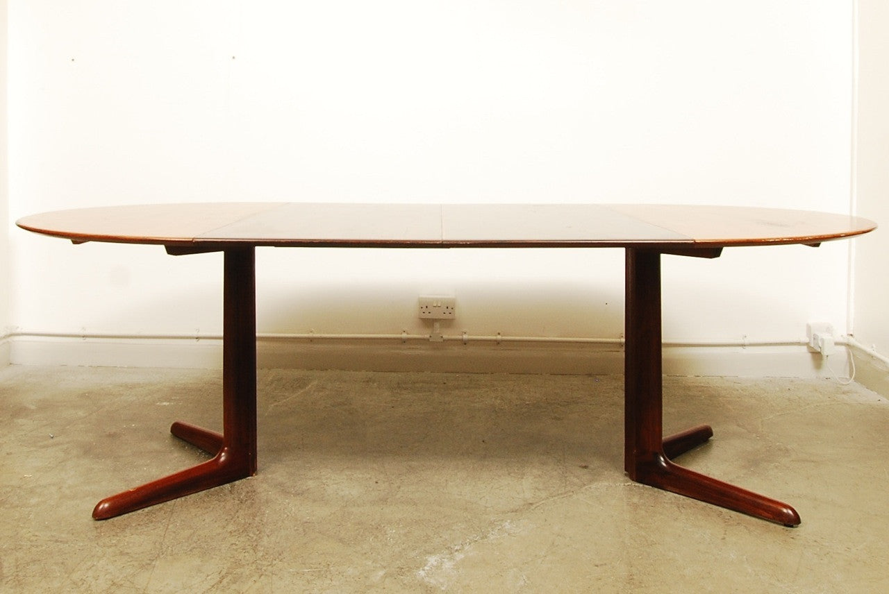Rosewood dining table by Niels Møller