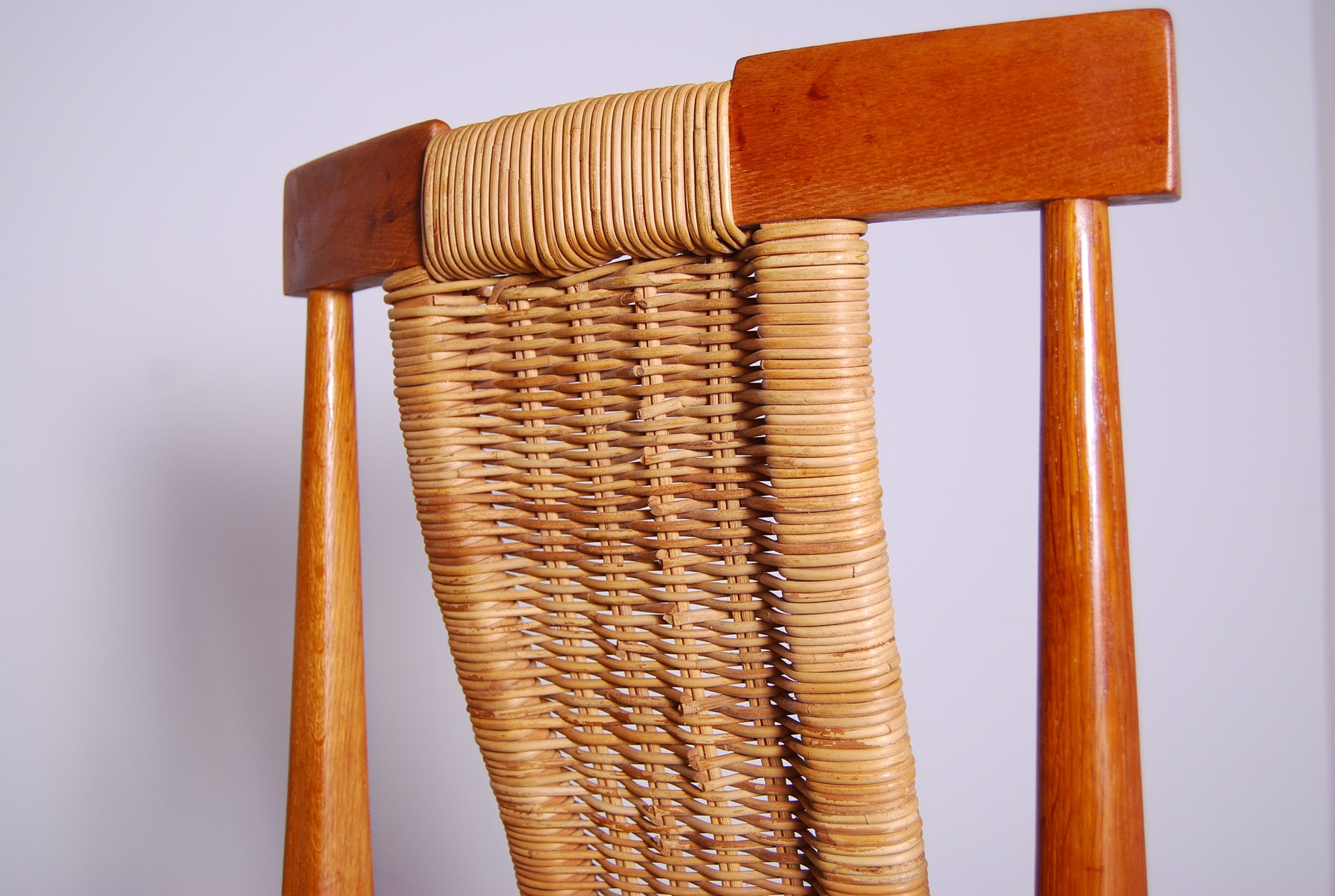 Set of four teak dining chairs