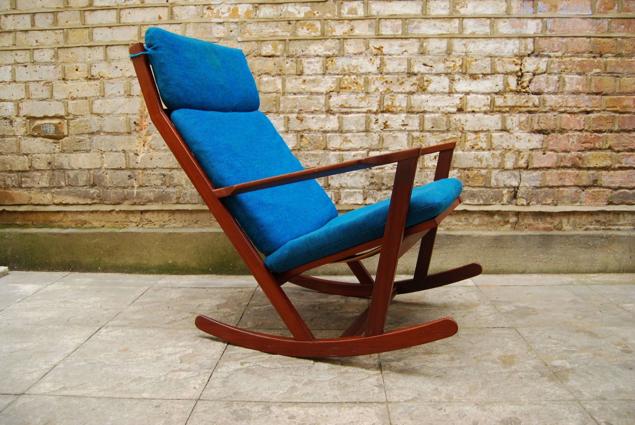 Teak rocking chair by Frem Rojle