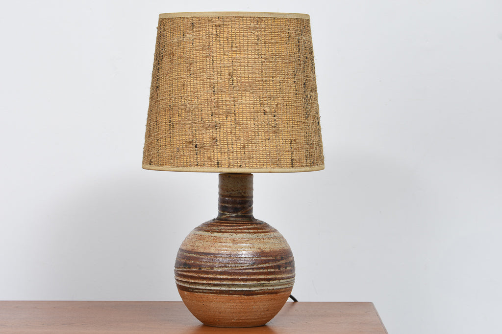Vintage ceramic table lamp with shade