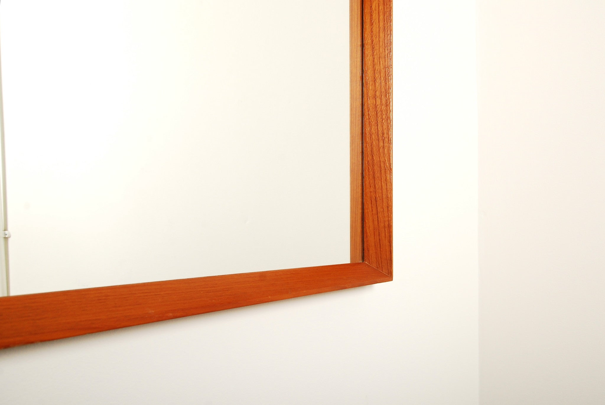 Teak full length mirror