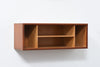1960s teak + beech wall shelf