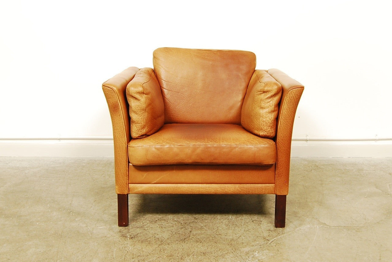 Buffalo leather club chair