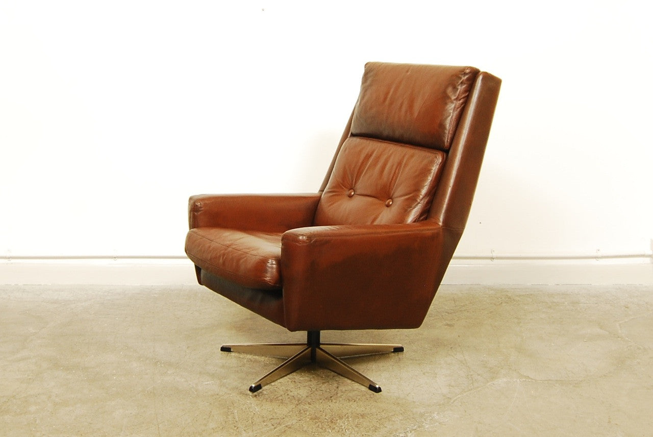 High back chocolate brown lounger