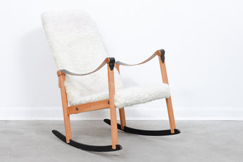 Vintage Swedish rocking chair