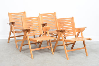 Four available: Folding 'Rex' chairs by Niko Kralj