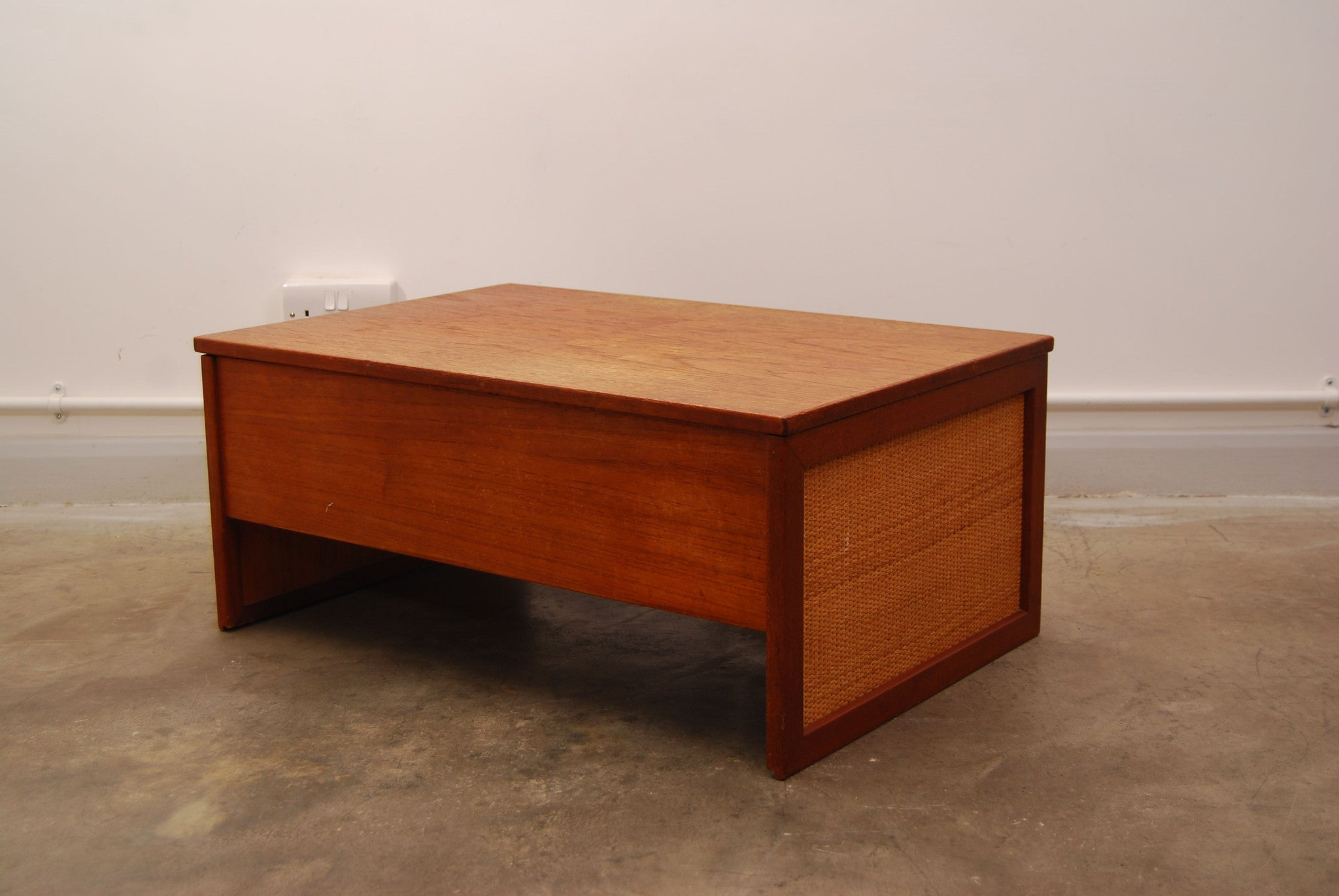 Teak bedside chest by Hans Olsen
