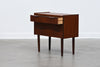 Short chest of three drawers in teak