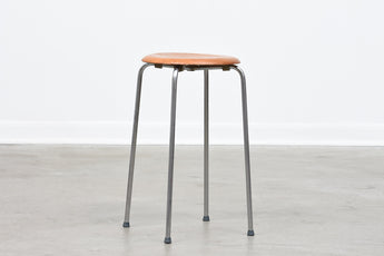 1950s metal + teak ply stool