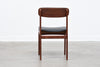 Set of six 1960s teak + vinyl dining chairs