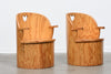 Two available: Swedish pine tub chairs