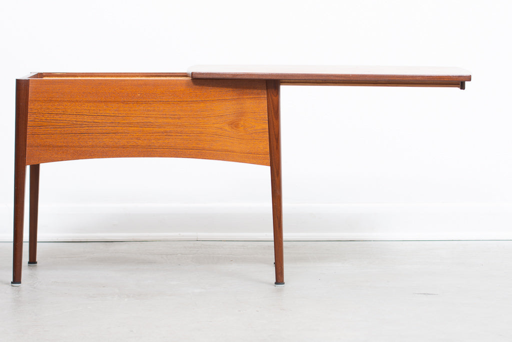 1960s teak coffee table with storage | CHASE & SORENSEN
