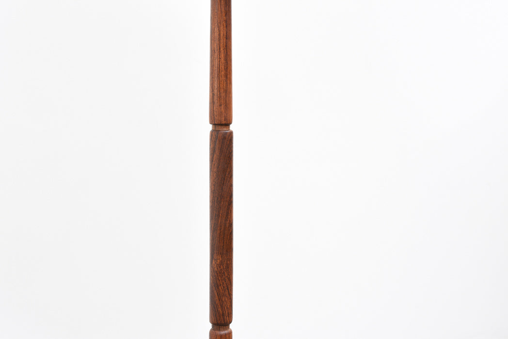 1960s rosewood floor lamp with shade