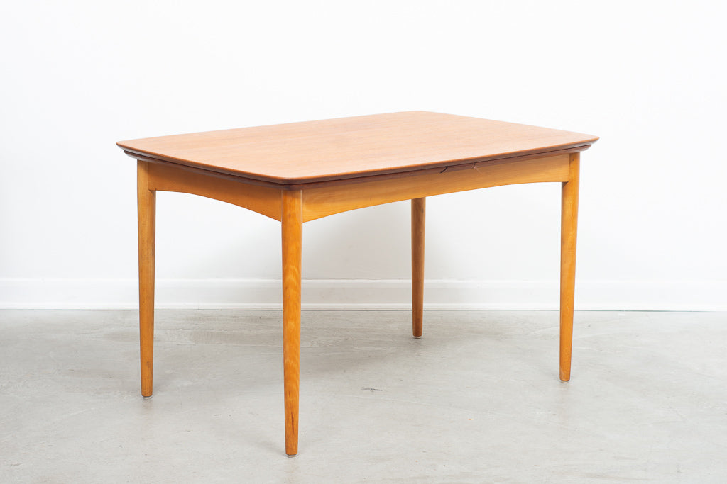 Extending 1960s teak table on contrasting beech base
