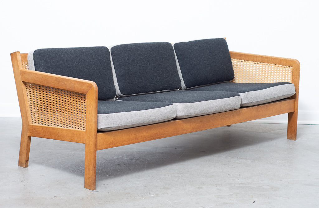 Three seat sofa by Bernt Petersen with reversible cushions