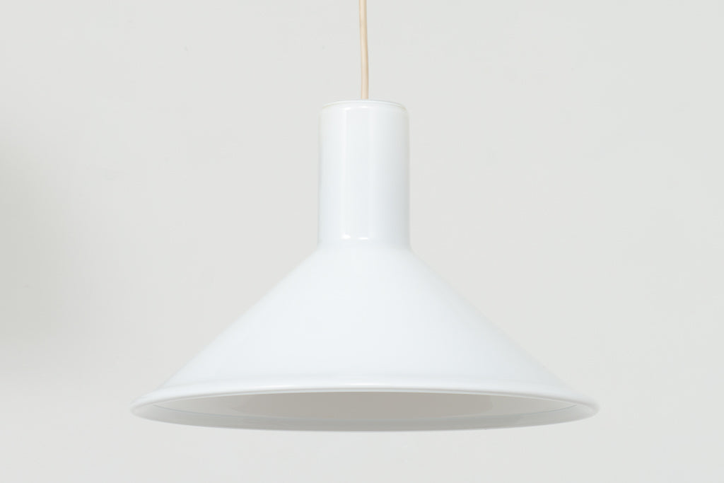 Glass ceiling lamp by Michael Bang for Holmegaard - White