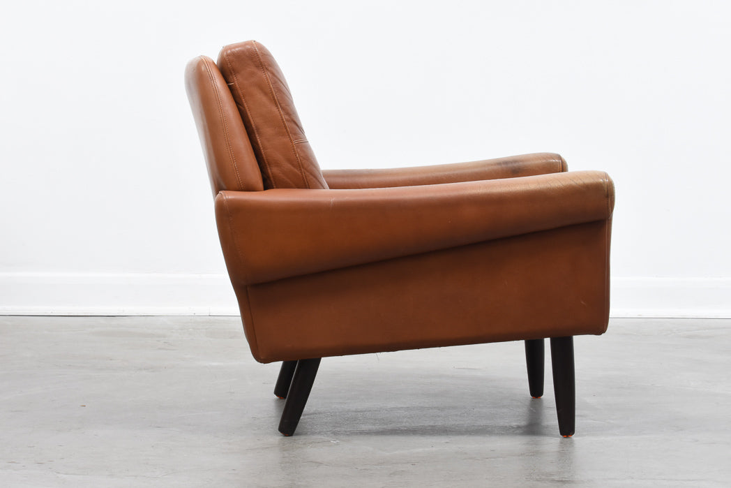 1960s leather lounger by Svend Skipper