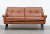 Two seat leather sofa by Svend Skipper