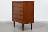 Teak chest of five drawers