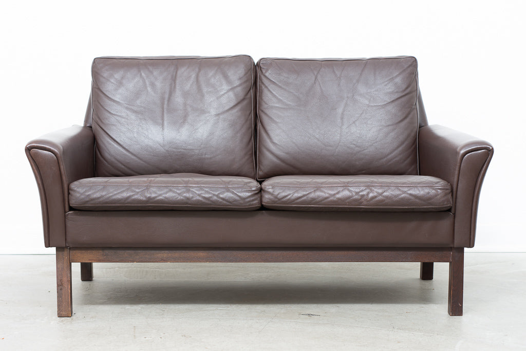 1960s leather two seater