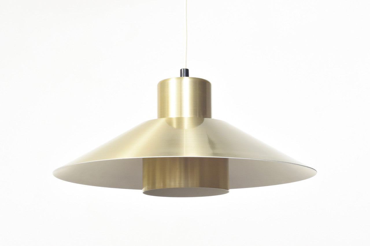 Cone shaped brass ceiling light