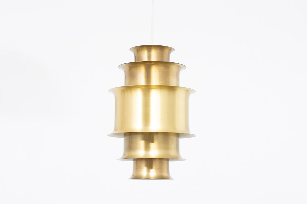 1960s multi-tiered brass ceiling lamp