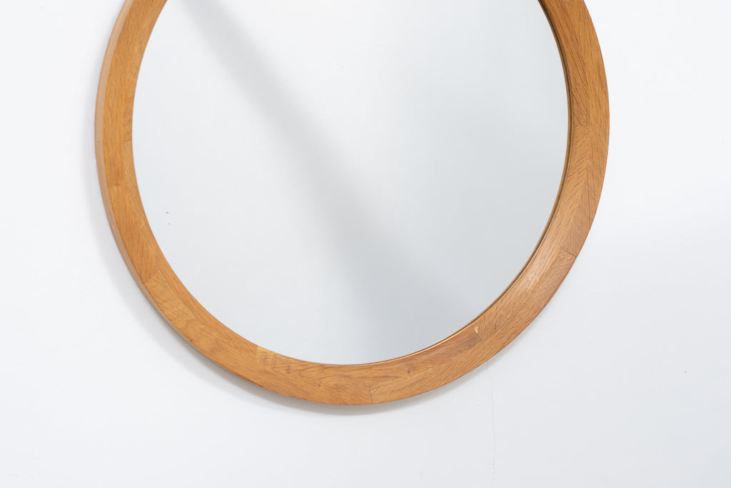 Vintage mirror with oak frame