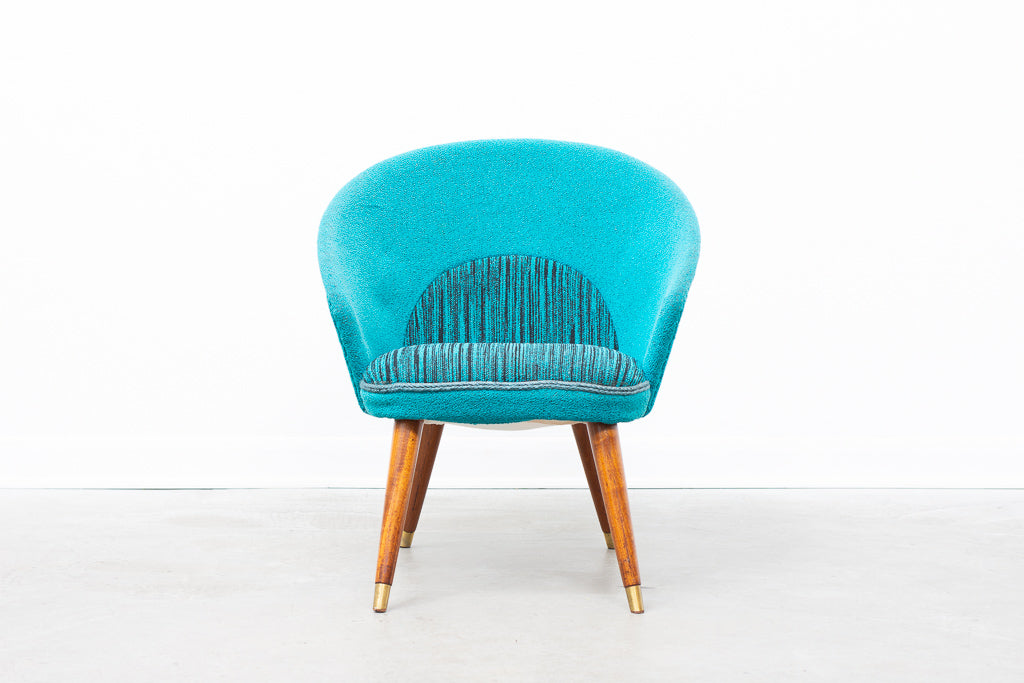 1950s Danish slipper chair