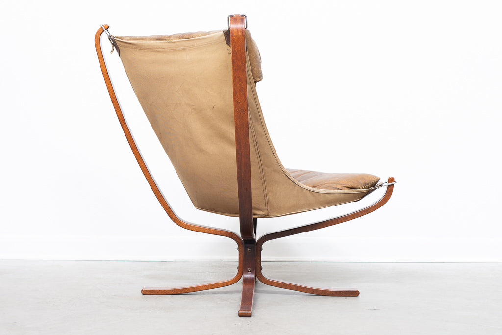 High back Falcon chair by Sigurd Ressel