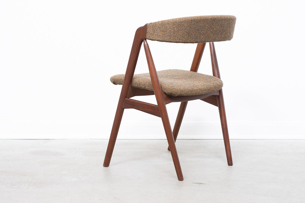 Six available: Teak dining chairs by Th. Harlev for Farstrup