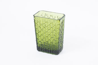 Vintage Swedish etched glass vase
