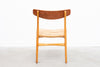 Five available: Model CH23 teak + beech dining chairs by Hans Wegner